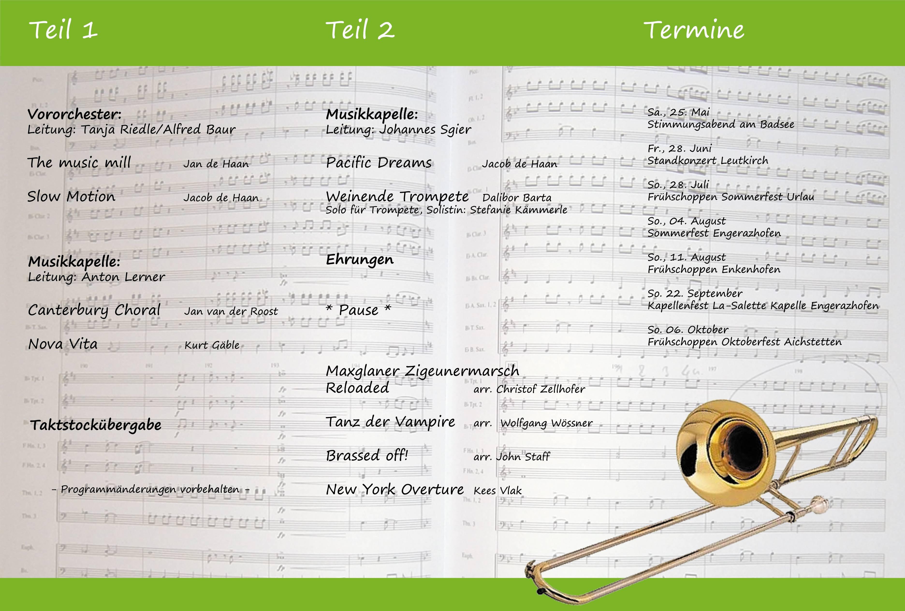 2013-04-27 - Programm Konzert innen