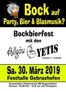 Flyer Bockbierfest 2019